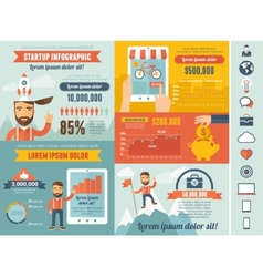Startup Infographic Template vector image vector image