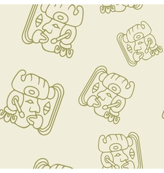 pattern with symbol of the Maya Night Lord vector image