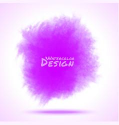 Violet Watercolor splatter vector image