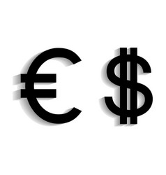 3d of currency symbols set vector image