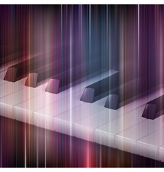 abstract blue music background with piano keys vector image
