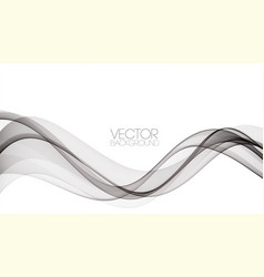 Abstract smooth gray wave curve flow grey vector