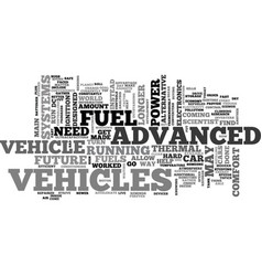 Advanced vehicles text word cloud concept vector