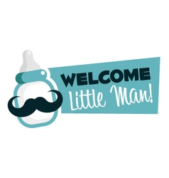 Baby Shower Greeting Emblem vector image