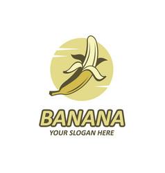 Banana fruit emblem vector