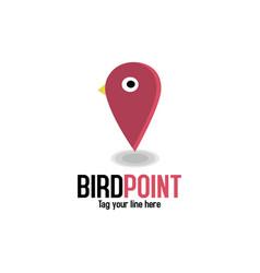 Bird point locator logo vector