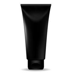 Black cream tube vector