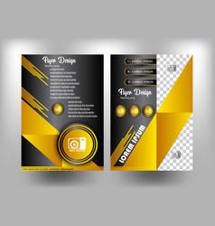brochure design gold elegance vector image