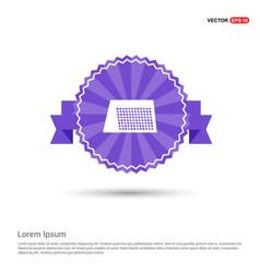 calendar web icon - purple ribbon banner vector image
