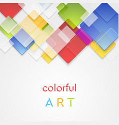 Colorful abstract squares geometric vector