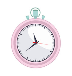 colorful graphic of female stopwatch vector image
