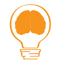 conceptual idea lightbulb with a brain icon vector image