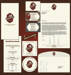 Corporate identity background vector
