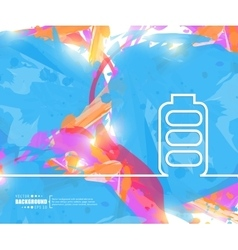 Creative battery Art template vector
