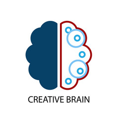 Creative brain logo vector