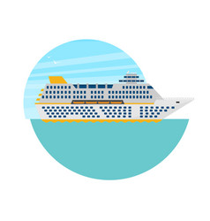 cruise ship in flat style vector image