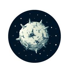 Dangerous Asteroid vector image