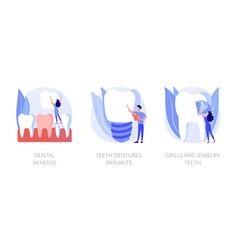 Dental prosthetics concept metaphors vector