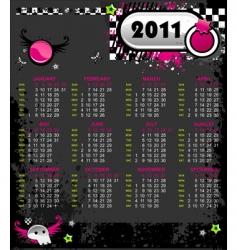 Emo calendar 2011 vector