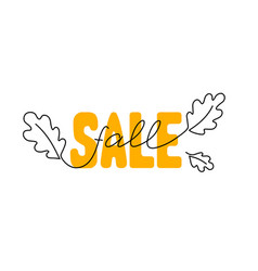 Fall sale banner vector