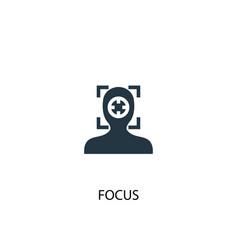 Focus icon simple element focus vector