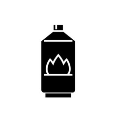 gas icon black sign on vector image