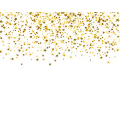 gold starfall on white background abstract vector image