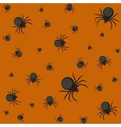 Halloween pattern with spiders vector image