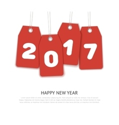 Happy New Year 2017 celebration background vector image