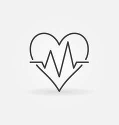 heart beat minimal icon heartbeat sign vector image