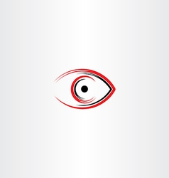 Human eye icon symbol stylized sign vector