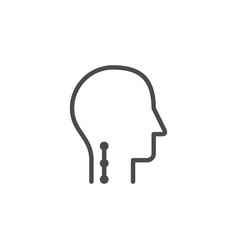 Human neck line outline icon vector