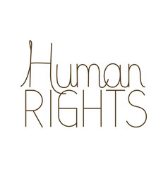 Human rights isolated icon vector