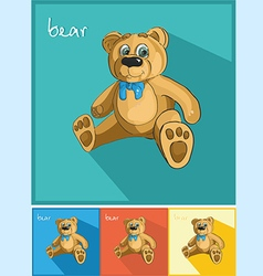 Icons bear and bow vector