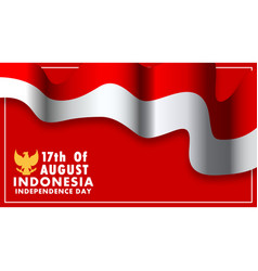 Indonesia independence day wallpaper vector