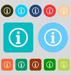 Information sign icon Info speech bubble symbol 12 vector