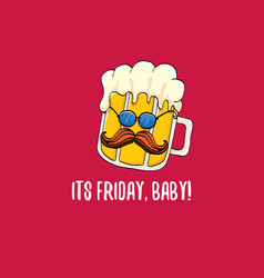 Its friday baby concept with vector