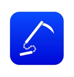 kusarigama icon digital blue vector image