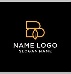Letter b leaf logo vector