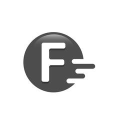 Letter f dash logo design vector