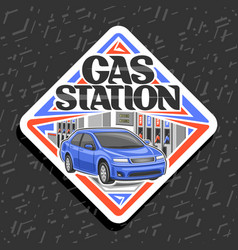 Logo for gas station vector