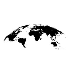 Map of world 3d effect surface icon black color vector