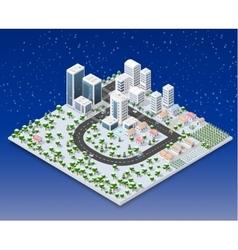 Megapolis 3d isometric vector