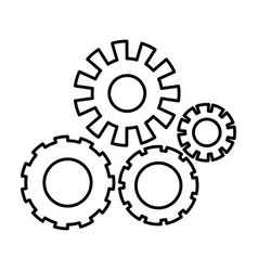Monochrome silhouette with pinions set vector