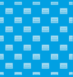 music equalizer console pattern seamless blue vector image