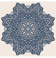 ornamental geometric doily pattern vector image