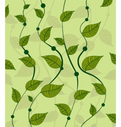 pattern of vines green peas vector image