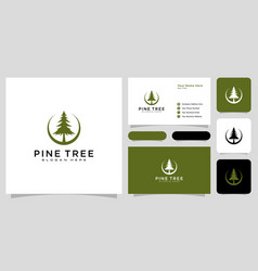 pine tree icon isolated sign symbol vector image