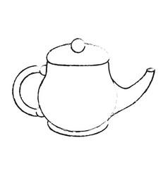 porcelain tea jug vector image