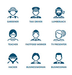 profession icons set ii vector image
